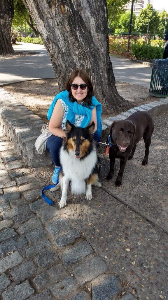 Gabriela y su perro