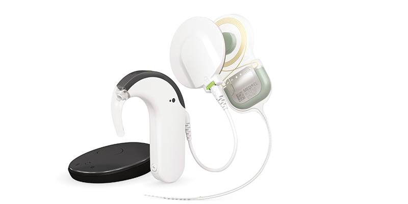 MED-EL cochlear implant system with SYNCHRONY 2 implant, RONDO 3 and SONNET 2 audio processors