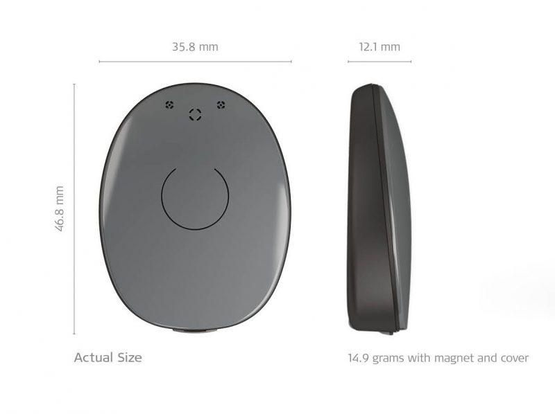 RONDO 2 cochlear implant audio processor size