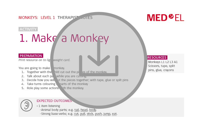 Aural rehabilitation lesson kit download #12 Monkeys