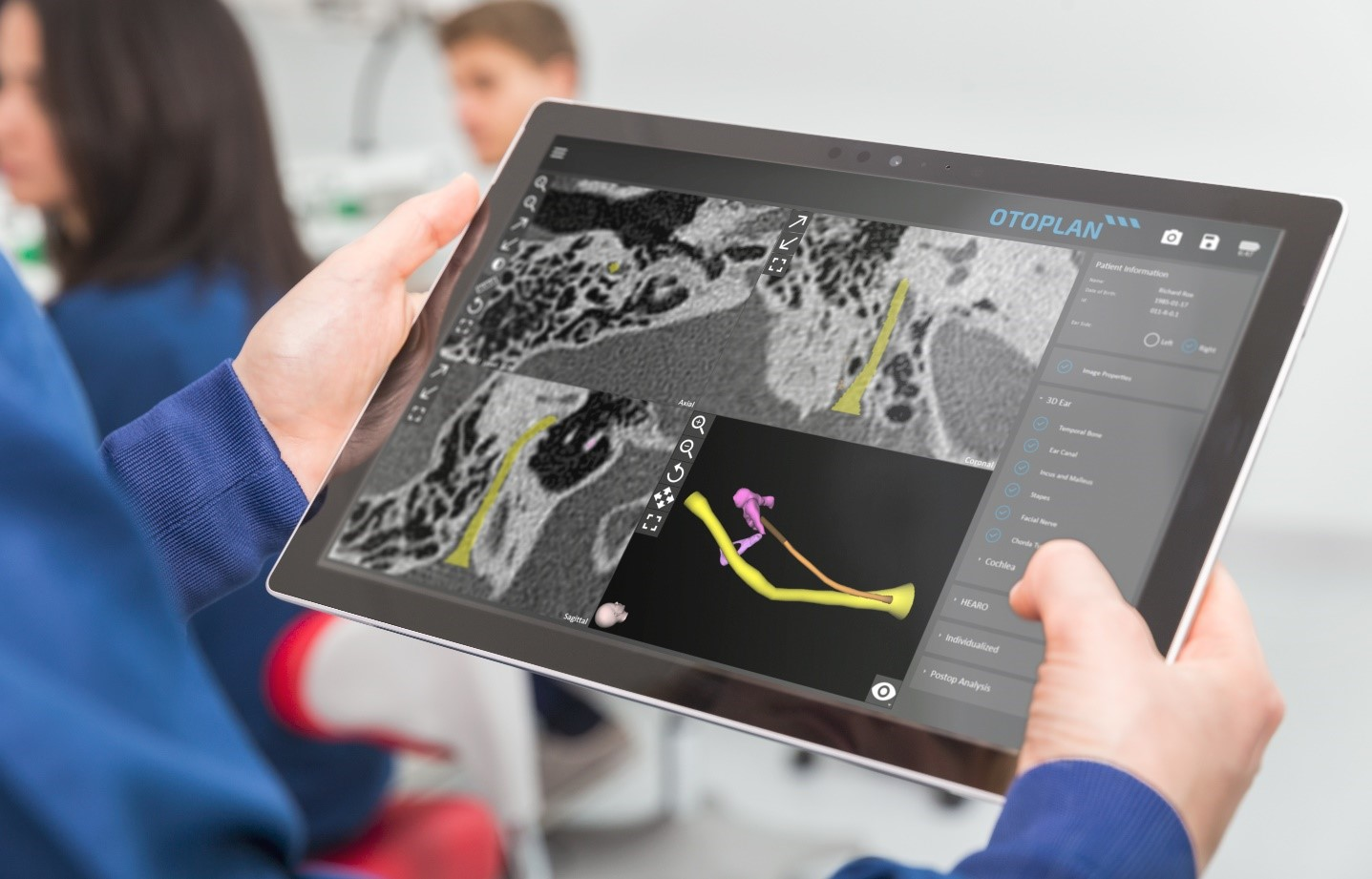 Surgical planning with OTOPLAN