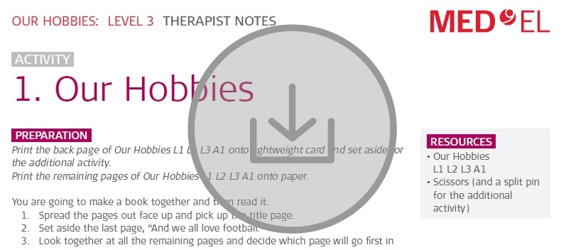 My Hobbies rehabilitation training kit download