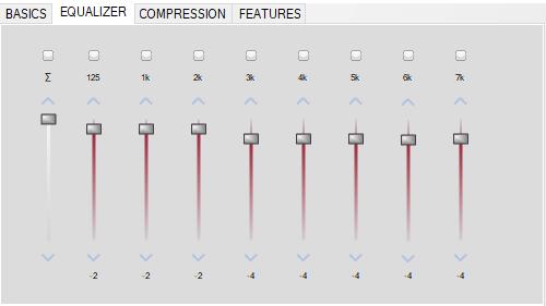 Figure 11 Default Settings for ADHEAR